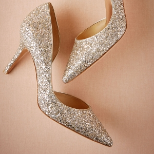 Gold Glitter Wedding Shoes