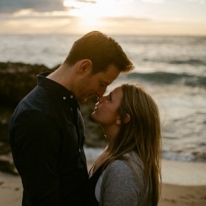 Trigg Beach Sunset Engagement Shoot