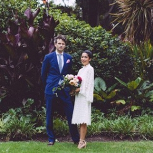 Newlyweds In Fitzroy Gardens