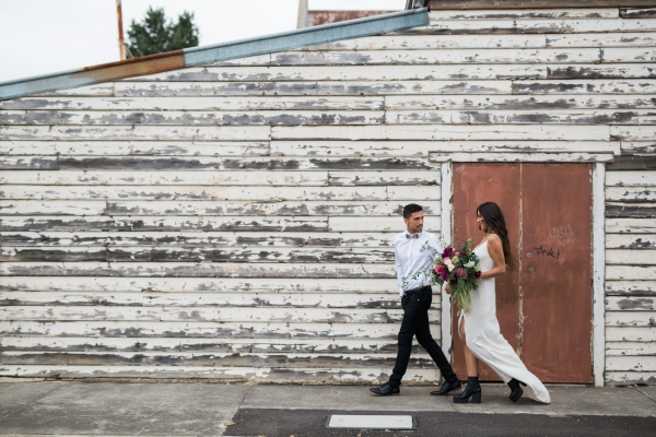 Urban Wine Bar Elopement Inspiration