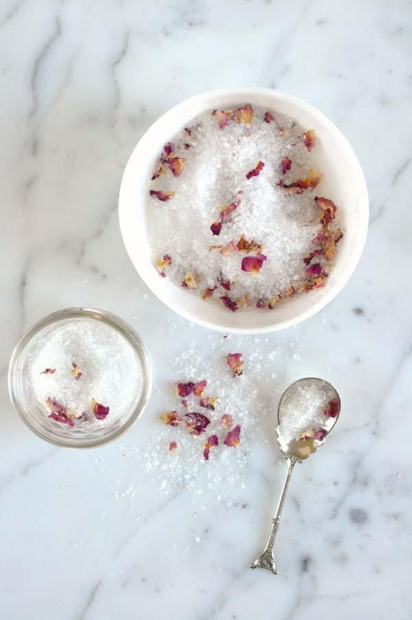 Homemade Bath Salt Favors