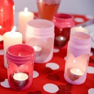 Heart Jar Candle Holder