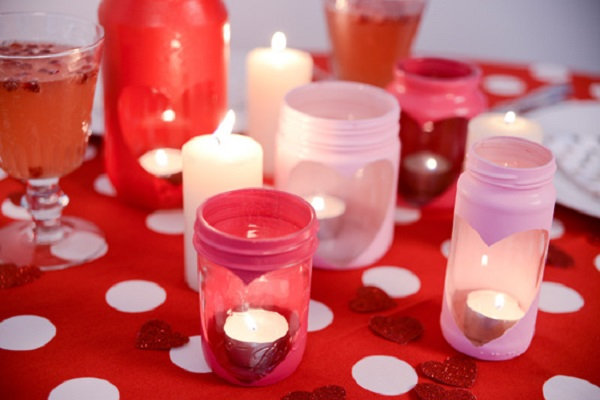 Heart Jar Candle Holder