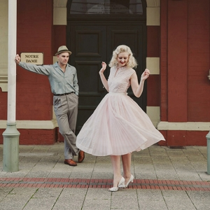 Vintage Twirling Engagement Photos