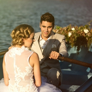 Lake Wedding Portrait