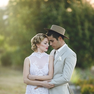 Vintage Styled Bride & Groom