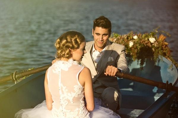 Lake Wedding Portrait
