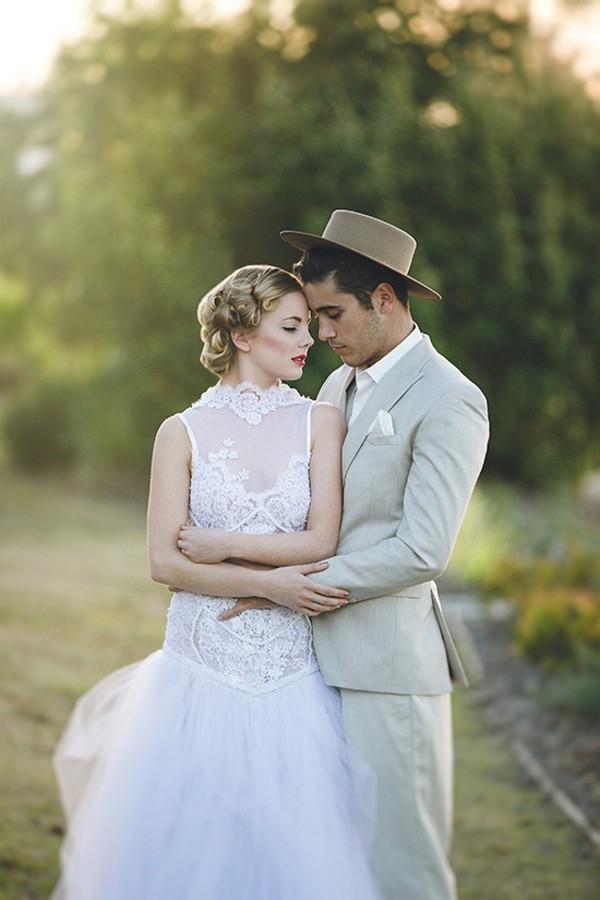 Vintage Styled Bride & Groom