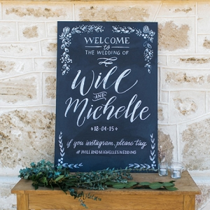 Welcome Sign For Wedding Ceremony