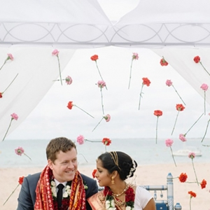 Australian Couple Under Mandap