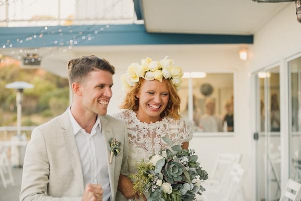 Newlyweds At Yacht Club Wedding