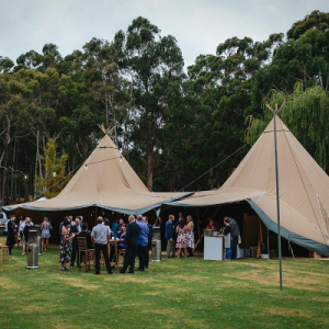 Tipi tent reception