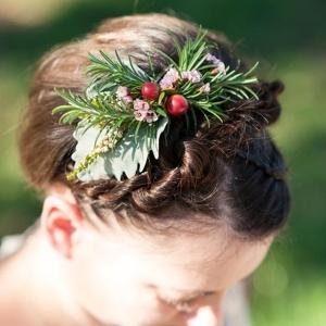 Herb & Berry Wedding Hairpiece