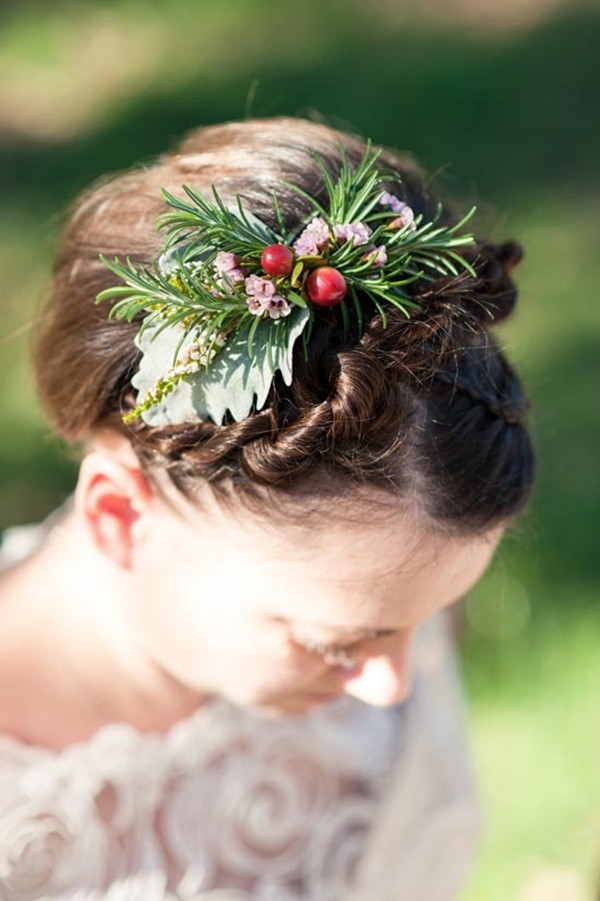 Herb & Berry Wedding Hairpiece