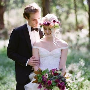 Black Tie Wedding In Forest