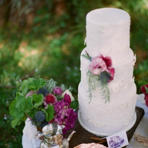 Tiered Wedding Cake With Detail