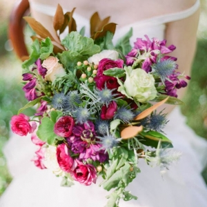Colorful Pink And Green Bouquet
