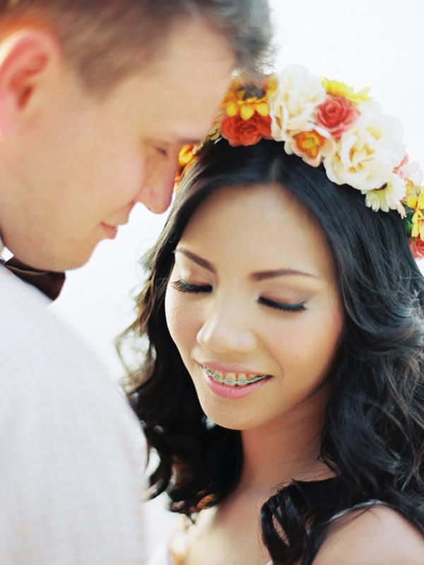 Beautiful Beach Wedding Portrait