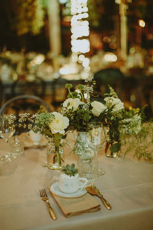 Tablescape With Greenery