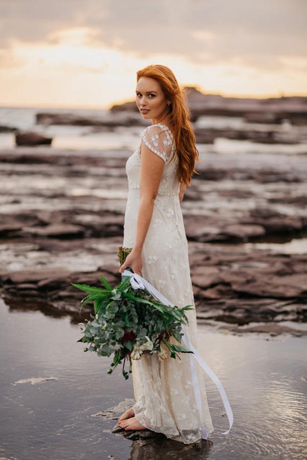 Windswept Beach Bride