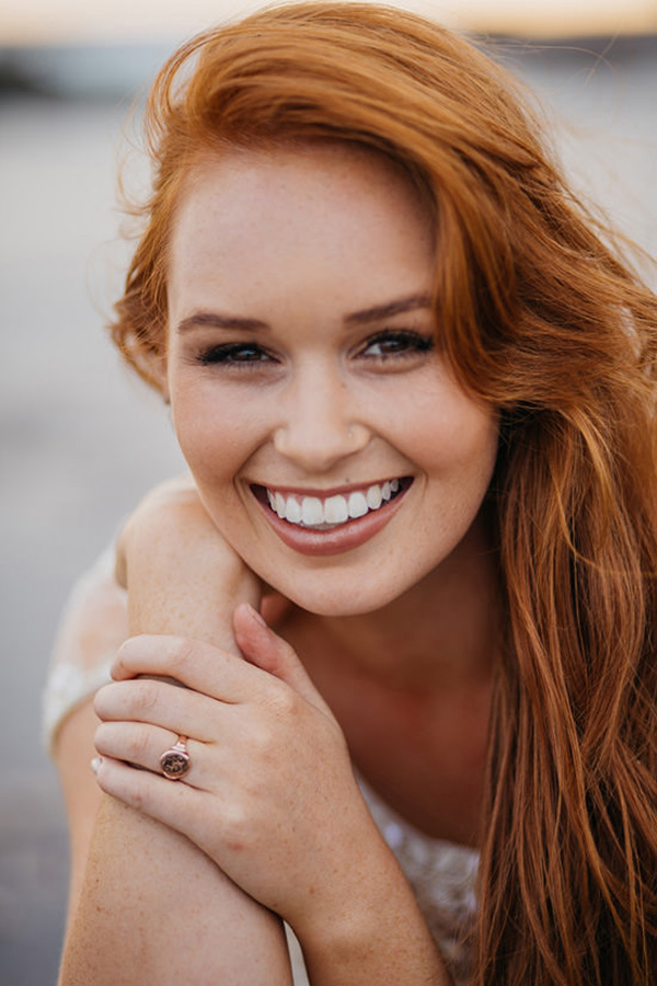 Redhead Bride With Natural Makeup