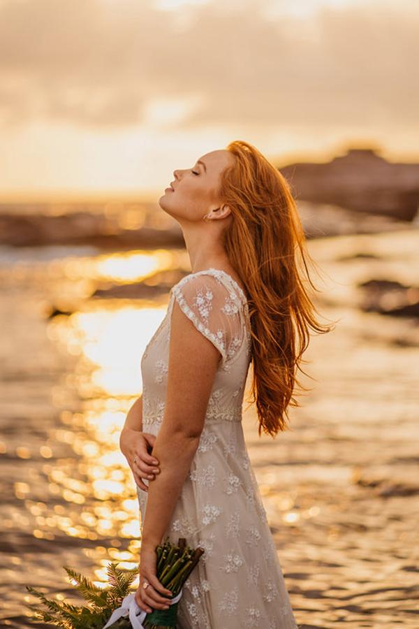 Bride At Sunrise