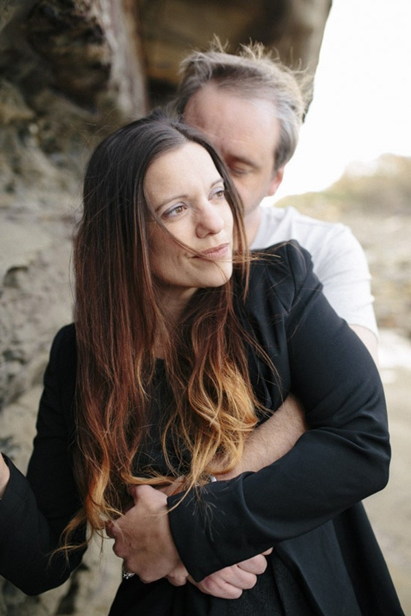 Winter Beach Engagement Shoot