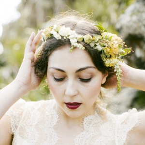 Beautiful Bridal Flower Crown