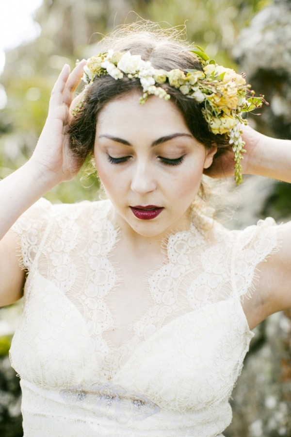 Beautiful Bridal Flower Crown
