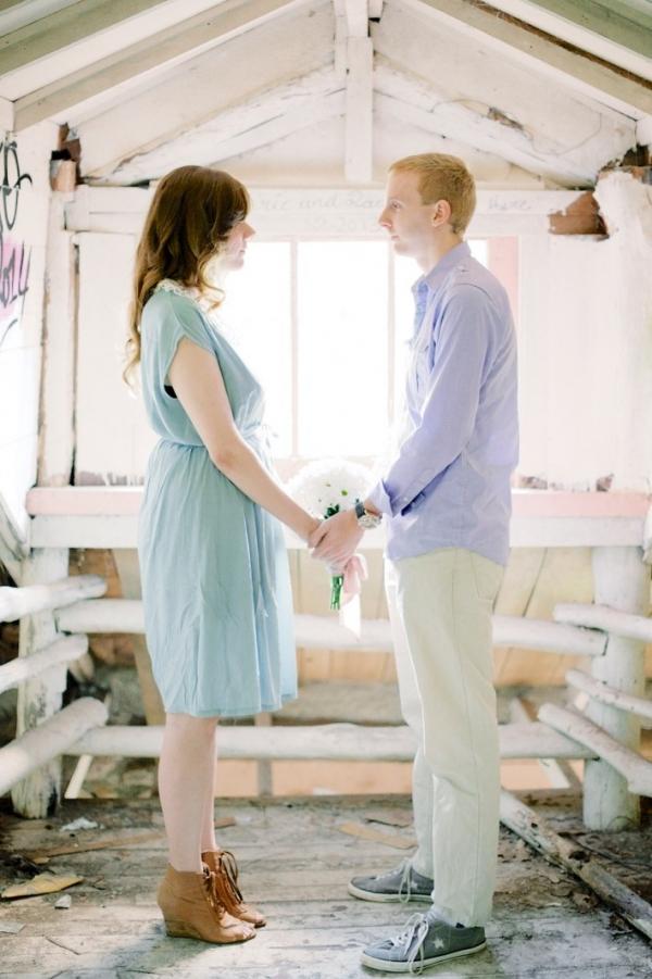 Winter Engagement Photo