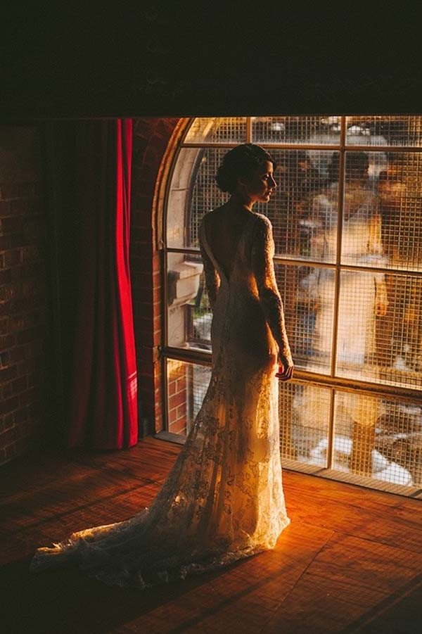 Bride In Jane Hill Wedding Dress