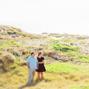Outdoors engagement session