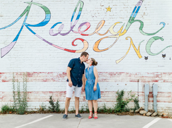 Alluring Raleigh engagement session