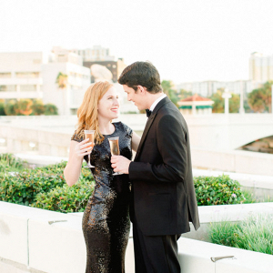 Black tie engagement session
