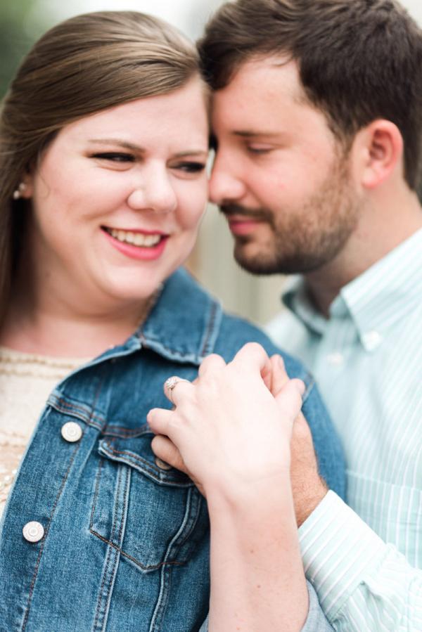 Newly engaged sweethearts
