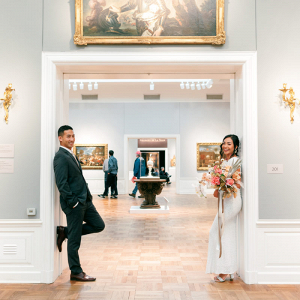 Chic Portland Art Museum Engagement Session