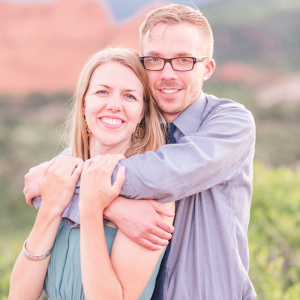 Colorado mountainside engagement session closeup