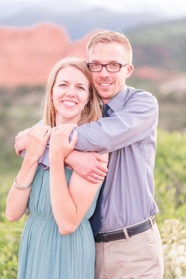 Colorado mountainside engagement session closeup