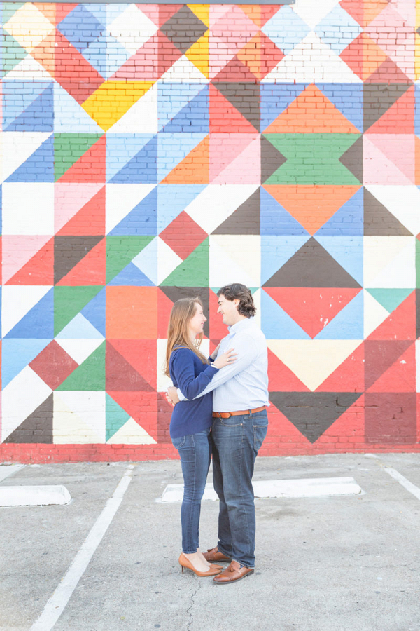 Eclectic engagement session with Dallas murals