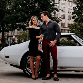 Edgy downtown engagement session in Ohio