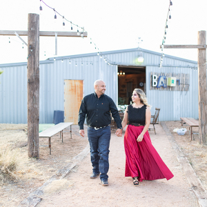 Festive southwestern engagement session