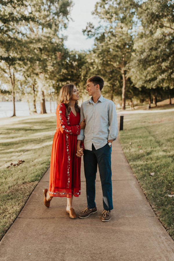 Outdoor engagement session in arkansas