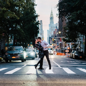 Intimate gramercy park engagement session in New York City