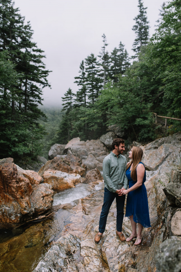 Majestic outdoor engagement session in New Hampshire Carolina