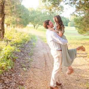 Romantic engagement session in Oklahoma