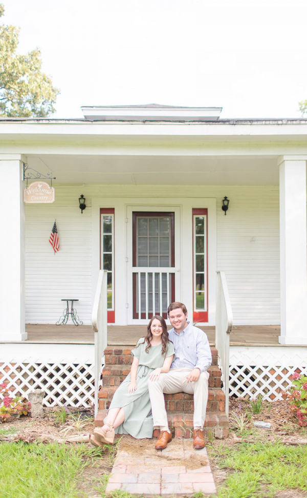 Mississippi engagement session steeped-in family history