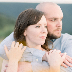 Pennsylvanian mountaintop engagement session