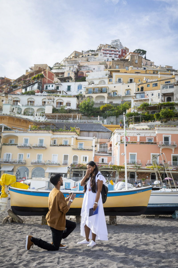 Picture perfect wedding proposal in Positano