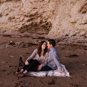 Beach engagement sesssion