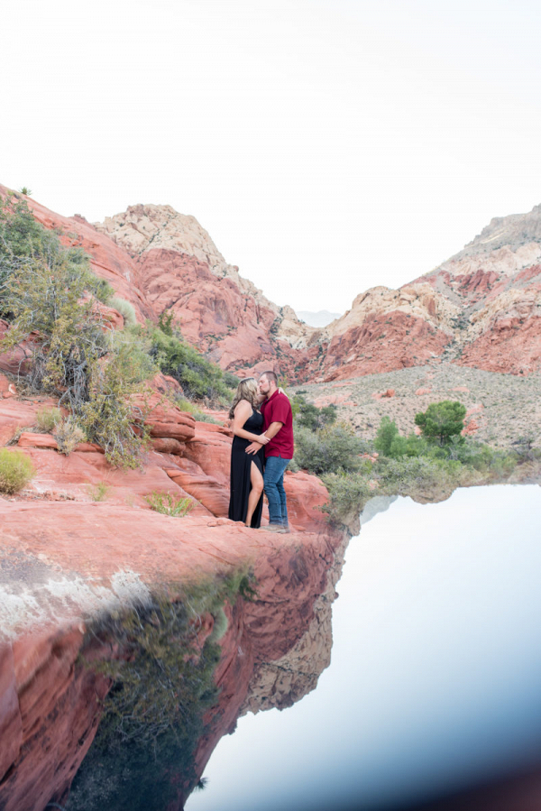 Red rock canyon Las Vegas engagement session